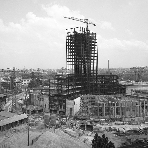 Construction de la Maison de la Radio