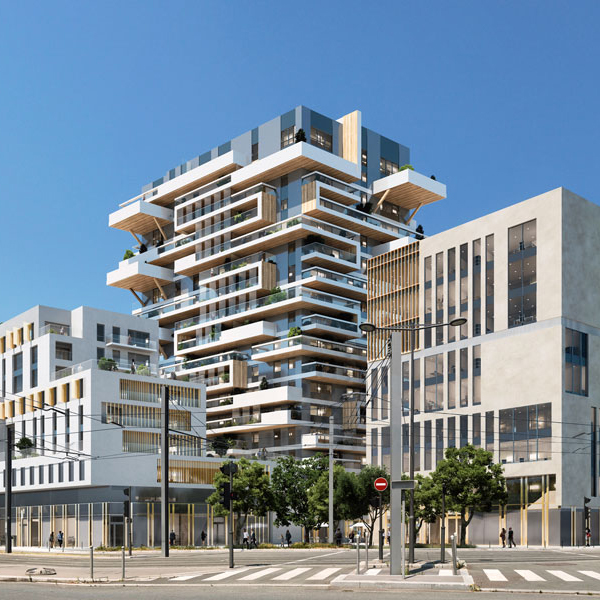 Hypérion, the first timber-framed high-rise in France