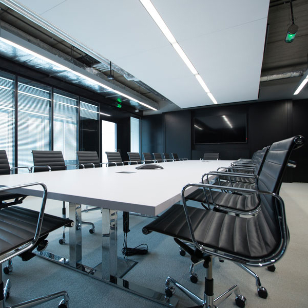 Interior view of a meeting room