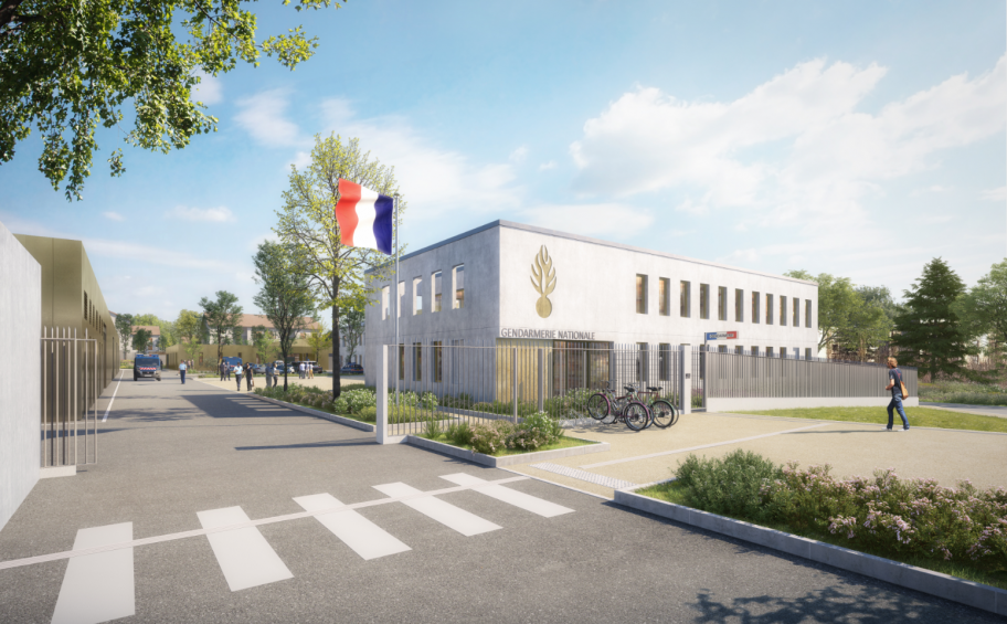 Haute-Marne : Eiffage Immobilier launches work on the first gendarmerie (police station) with financial backing from a regional department