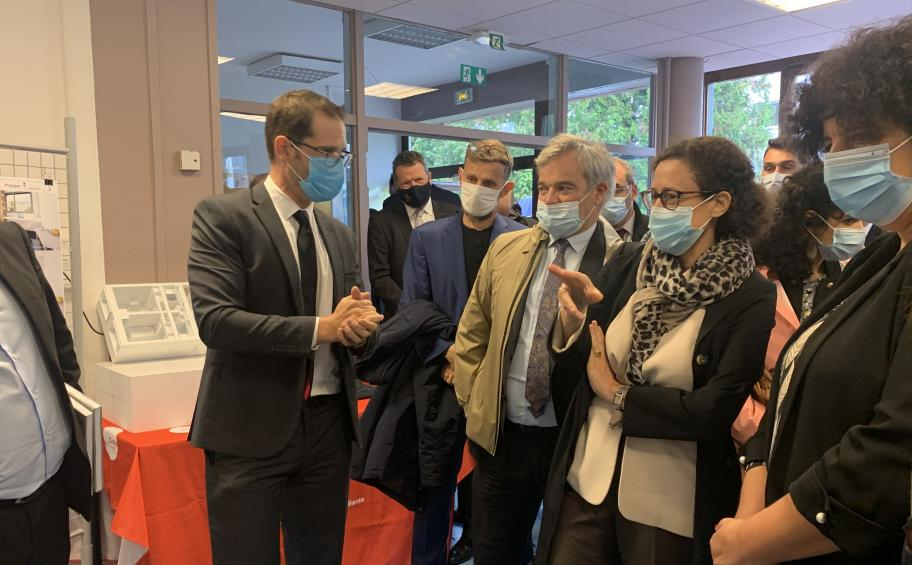 On the Metz students accomodation site, a double Ministerial visit for a unique energy rehabilitation!