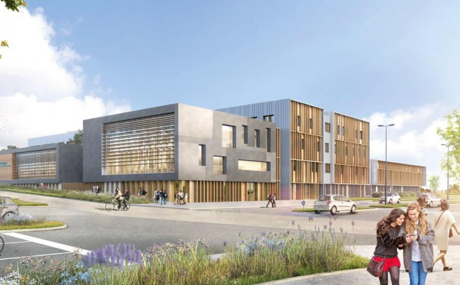 Eiffage Construction will build the future school of the clermontoise agglomeration in wood and straw!