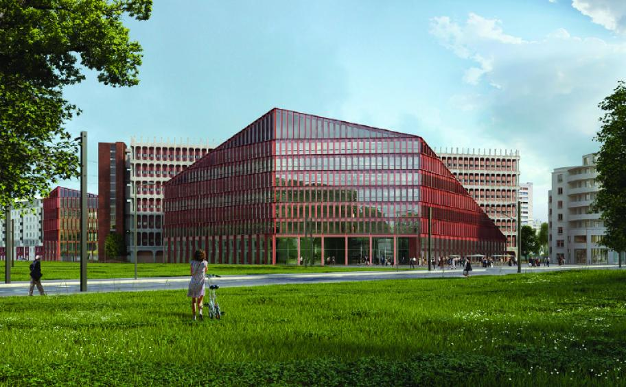 Circular Economy: Eiffage Construction realizes the new Orange headquarters in Lyon in concrete with recycled aggregate