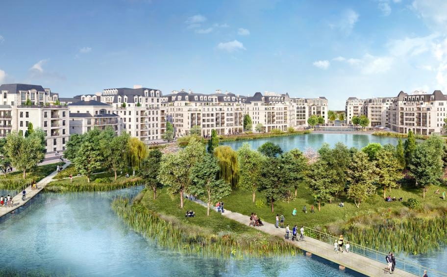 Eiffage Immobilier launches the works of Esprit Lac in the new district Panorama in Clamart (92)