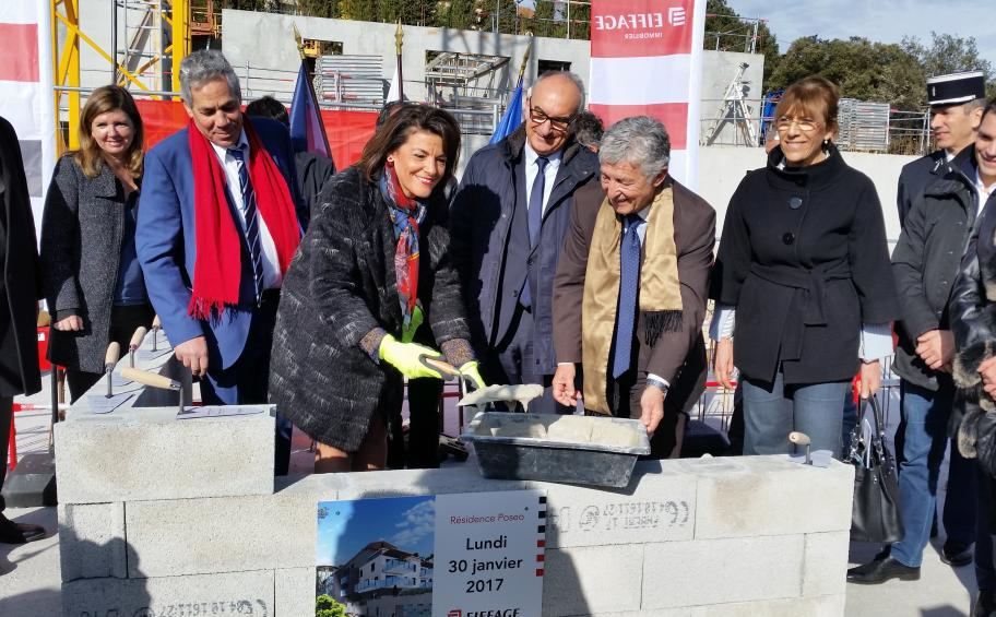 Foundation stone laid for Poseô, a new residential complex in Carros, Nice Côte d'Azur metropolitan area