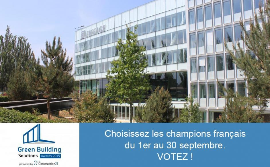 Votez pour le Campus Eiffage aux Green Building Solutions Awards 2015 !