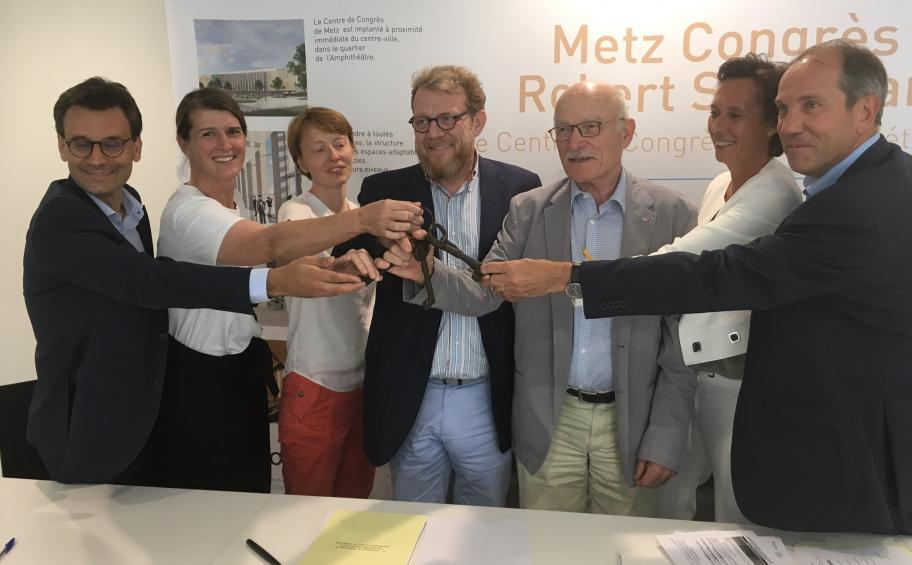 Eiffage Construction hands the keys of the congresses center Robert-Schuman to its owners M3Congrès and Metz-Metropolis