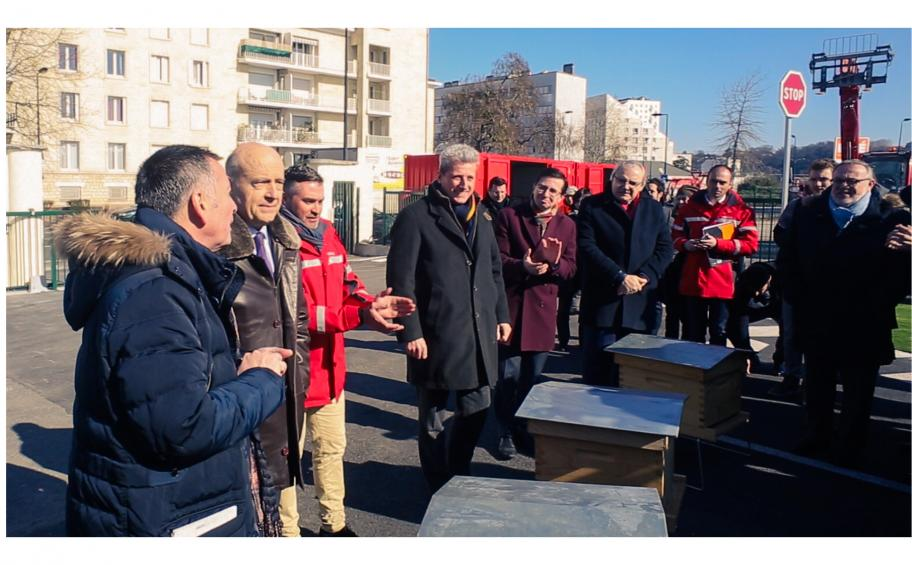 inaugurate in Bordeaux Euratlantique, the platform Noé, the first platform of mutualized services inter-construction sites