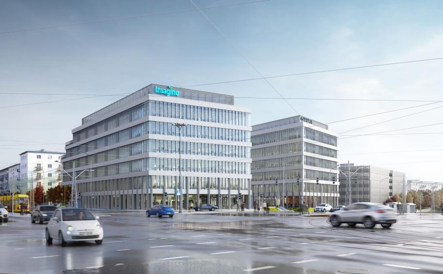 Eiffage Polska Budownictwo  wins the contract of the complex of offices and businesses Imagine in Lódz in Poland