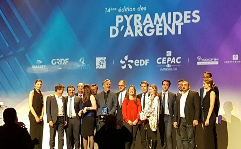 Eiffage Immobilier receives mixed urban use prize for its Univ'R Longchamp programme at the 14th Pyramides d'Argent awards