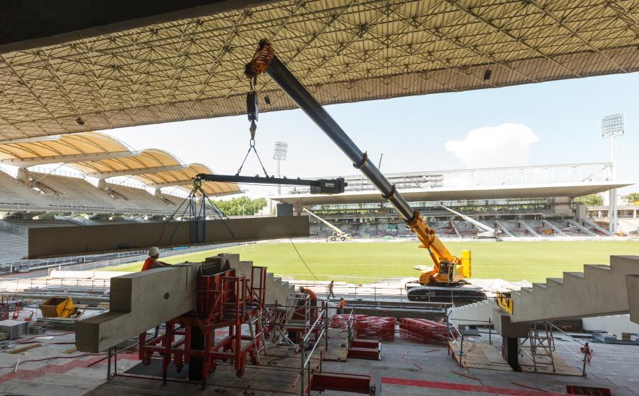 Eiffage Construction transforms the test at Stade de Gerland!