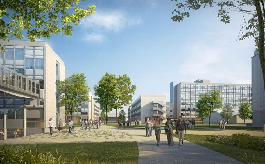 Rehabilitation of the eco-campus LyonTech-la Doua is starting